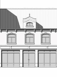 tekening nieuwe façade